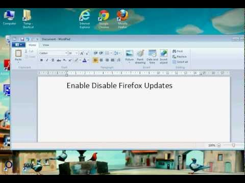 Firefox Enable Disable Automatic Updates