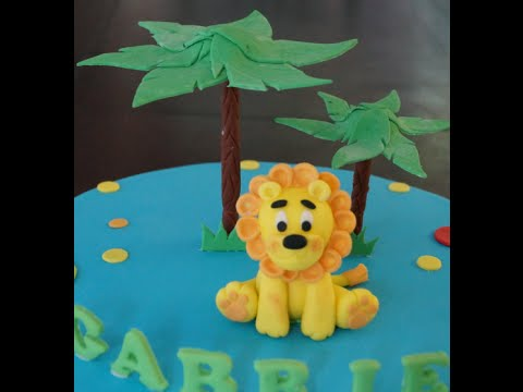 Cake decorating tutorial | How to make a fondant lion cake figurine | Sugarella Sweets