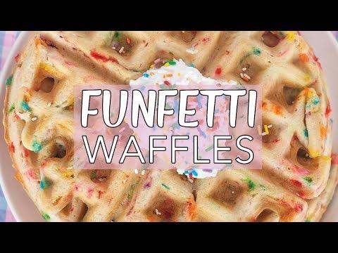 VEGAN FUNFETTI WAFFLES RECIPE | How to Make Vegan Waffles | Vegan Breakfast Ideas | The Edgy Veg