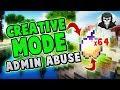 CREATIVE MODE ADMIN ABUSE! [64 God Apples] ( Hypixel Skywars )