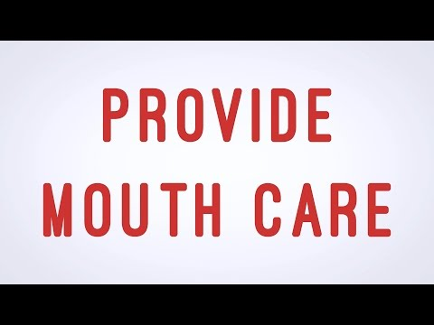 Provide Mouth Care - CNA skill video - AAMT