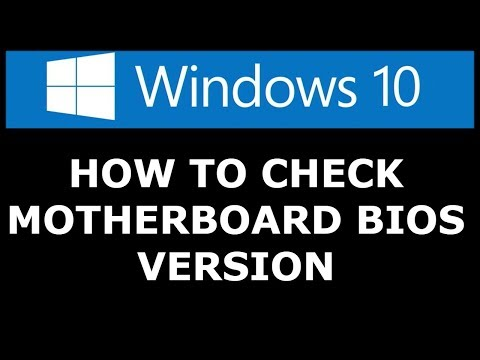 How to Check Your BIOS MOTHERBOARD Version  [ WINDOWS 10 ] Without programs