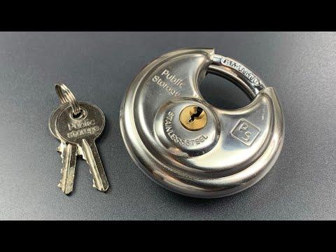 [794] Public Storage Disc Padlock Picked