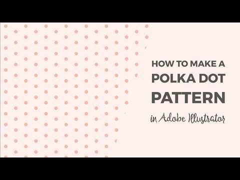 How to make a polka dot pattern in Illustrator