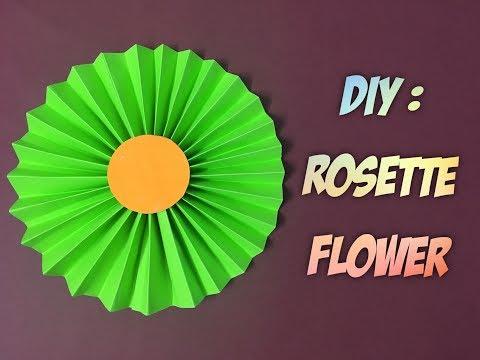 How to Make Paper Rosette Flower Tutorial