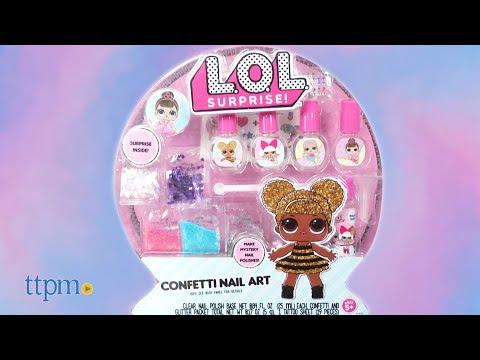 L.O.L. Surprise! Confetti Nail Art from Horizon Group USA