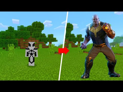 How To Become Thanos In Minecraft Bedrock Edition!!!