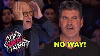3 AUDITIONS YOU CAN'T WATCH! These Will Leave You On The Edge Of Your Seat! SIMON COWELL REACTS!!