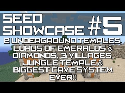 Minecraft Xbox 360 & PS3 : TU14 SEED  - Lots of Emeralds, 2 Underground Temples, 3 Villages & MORE!