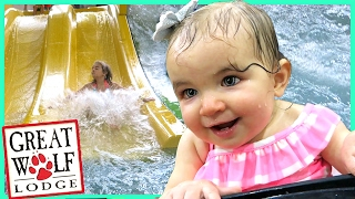 FIRST TIME AT GREAT WOLF LODGE INDOOR WATERPARK!