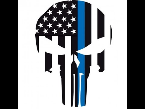 How to Cricut Vinyl Layering - Punisher Thin Blue Line Car Decal