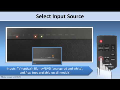 Getting TV Sound from your SC-HTB370 SC-HTB70 SC-HTB65 Home Theater systems.
