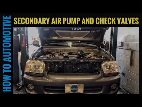 How to Replace the Secondary Air Injection Pump and Check Valves on a 2000-2007 Toyota Sequoia