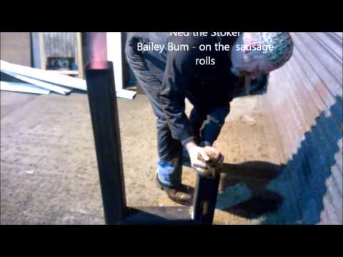 Rocket Stove Heater basic combustion chamber build & test firing