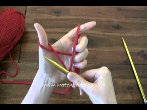 How to Cast on - Long tail cast on - Online Knitting Tutorials for Beginners