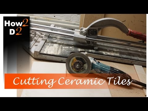 Cutting ceramic tile  How to cut wall and  floor tiles with angle grinder and hand cutter