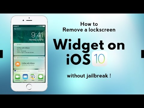 How to Remove Widgets on iPhone's lockscreen