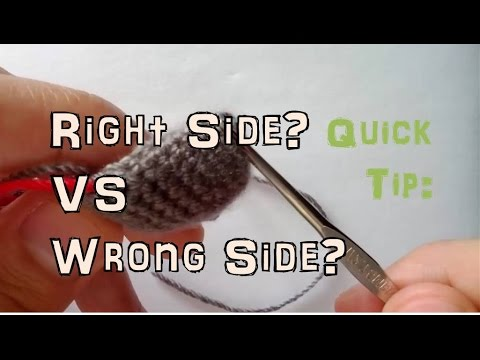 How to Crochet: Right and Wrong Side