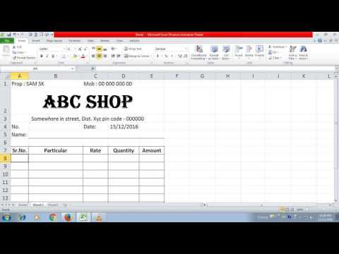 simple invoice in excel