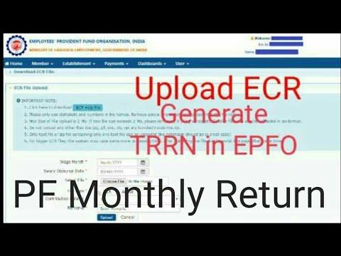 How to file ECR / return in EPFO /TRRN