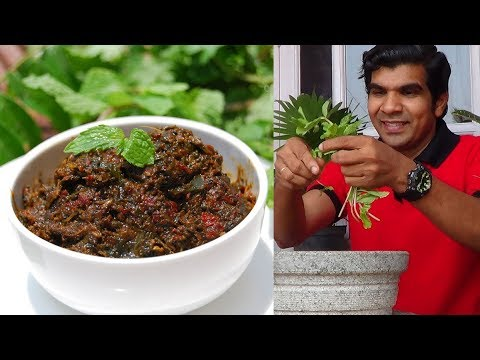 Pudina oorugai | Mint pickle-Healthy thokku for rice, idli or dosa