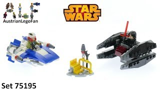 Lego Star Wars 75196 A-Wing vs TIE Silencer Microfighters - Lego Speed Build Review