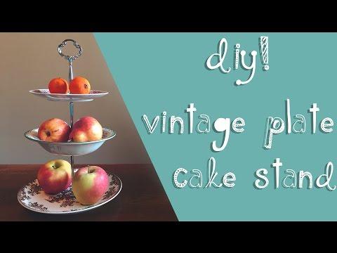DIY Vintage Plate Cake Stand 🎂  | Miss Matti