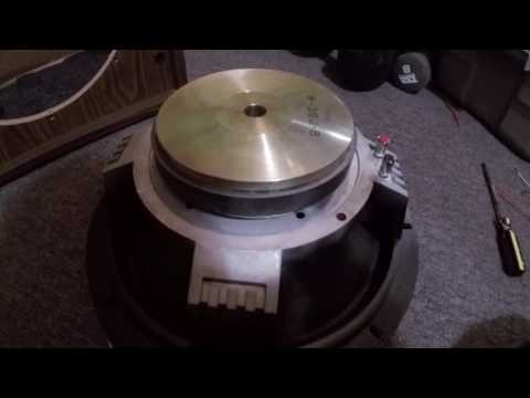 How to fix a 'blown' loudspeaker with coil rub