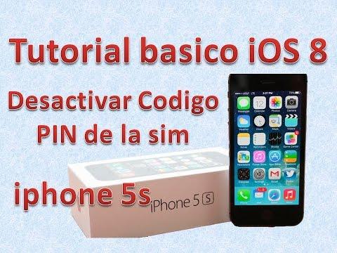 Tutorial y Guía de uso Iphone 5s parte 87 desactivar pin sim iphone
