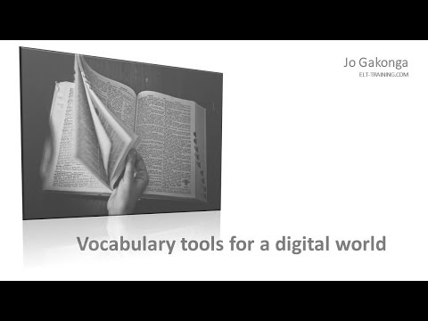 Digital Tools for Vocabulary Learning