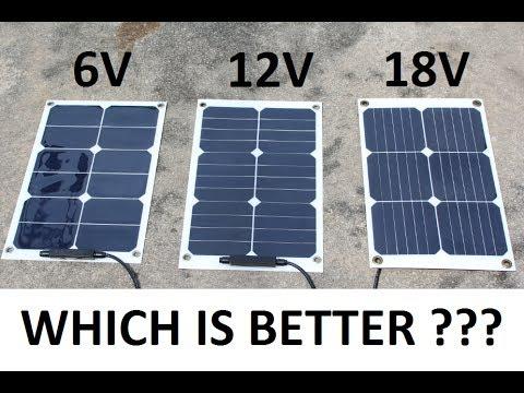 DIY Solar USB Charger - 6V, 12V, 18V Different voltage test