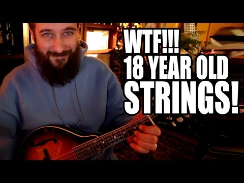 Changing 18 Year Old Mandolin Strings, Finally. (for real)