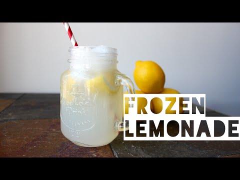 Healthy Frozen Lemonade Recipe | How To Make Low Calorie Low Carb Frozen Lemonade