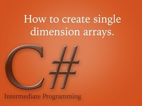 How to create single dimension arrays in c#?