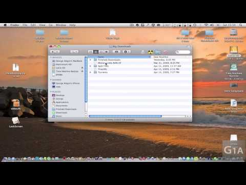Mac OS X : Basics : How to make shortcuts for documents, folders and apps