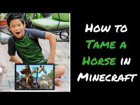 How to TAME a Horse in Minecraft and Equip with Armor and Saddle