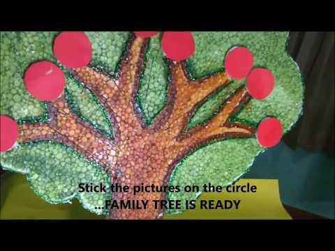 FAMILY TREE USING THERMOCOL (SCHOOL PROJECT FOR  KIDS)