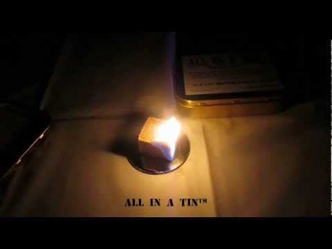 ALL IN A TIN™ Light Stick, Weatherproof Matches & Fire Block Demonstration