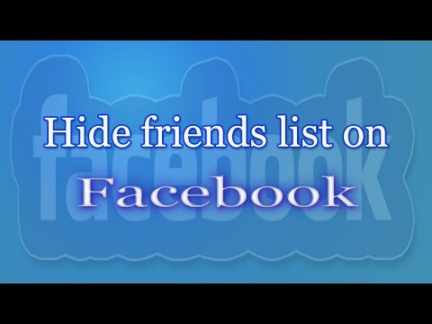 How to hide Friends list on Facebook 2016 | Definite Solutions