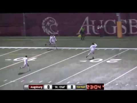 Augsburg Men's Soccer Highlights - St. Olaf 10/25/16