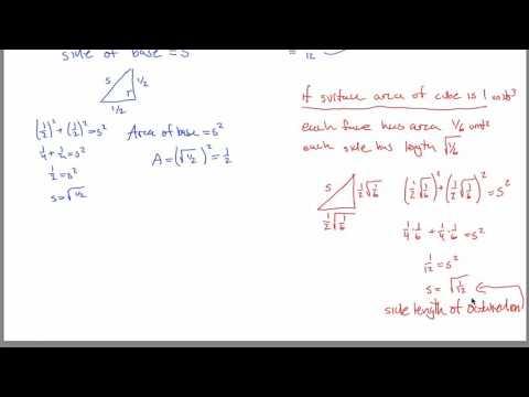 SA and Volume of Octahedron