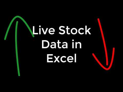 Quick way to get Live Stock Data to Excel