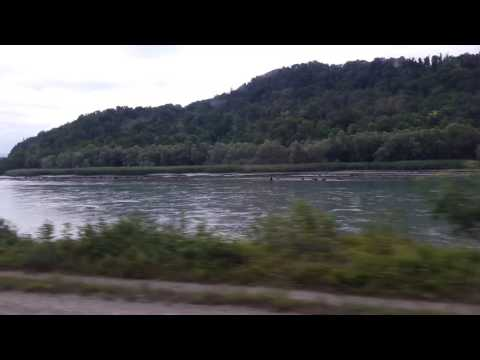 Train ride from Lyon France to Geneva Switzerland (Along the Rhone) part 3