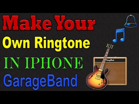How To Make Your Own RING TONE in GarageBand on (iPhone)