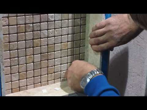 Shower Tile Installation - How To Install Glass Shelving