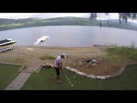 Driving a Ball into a Lake