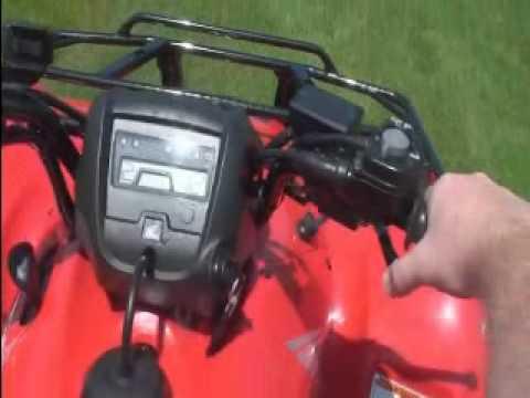 2010 Honda Rancher AT - Driving with Manual Shift ESP
