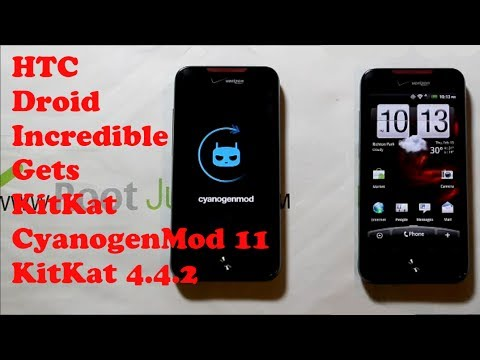 HTC Droid Incredible CM11 rom install KIT KAT 4.4.2