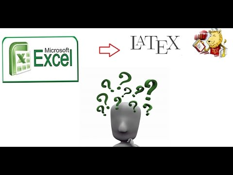 Latex Tip_1: Free and Easy way to importing Big  Excel data into Latex