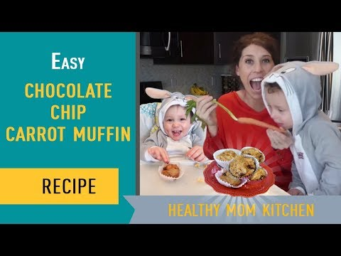 How to Make Easy Muffins: Chocolate Chip Carrot Muffin Recipe
